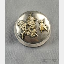 Art Nouveau Sterling Silver and Mixed-metal Box, Geo. W. Shiebler & Co.