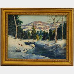 Attributed to Carl John David Nordell (American, 1885-1957)      Winter Landscape