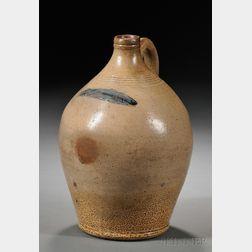 Cobalt-decorated Stoneware Jug with Codfish Motif