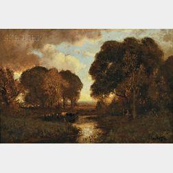 William Keith (American, 1838-1911)      Autumn Sunset (Sonoma Creek, Sonoma County, California)