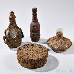Group of Ropework or Ropework-decorated Items