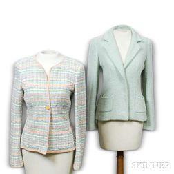Two Chanel Celadon Jackets