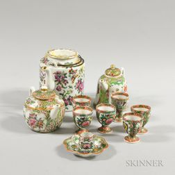 Eleven Rose Medallion Porcelain Tableware Items