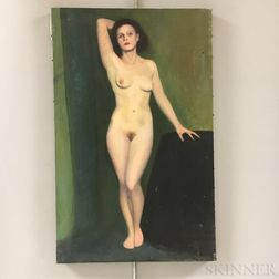 Two Unframed Edwin B. Sears (American, 20th Century) Oil on Canvas Nude Portraits