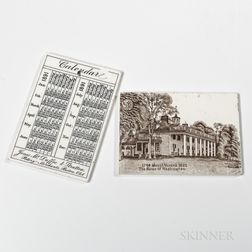 Thirty-three Assorted Wedgwood Calendar Tiles