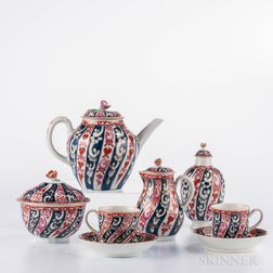 "Dr. Wall Period Worcester Porcelain ""Queen Charlotte"" Pattern Tea Set"