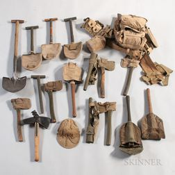 Group of WWII-era Entrenching Tools and Gear