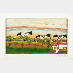 William Dawson (American, 1901-1990)      Three Birds