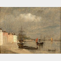 John Joseph Enneking (American, 1841-1916)      Grand Canal, Venice