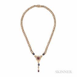 18kt Gold Gem-set Necklace