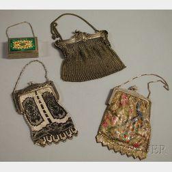 Three Antique Metal Purses