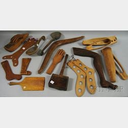 Group of Miscellaneous Carved and Shaped Wood Articles