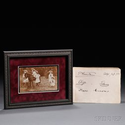Postcard of Tsar Nicholas II's Children and an Autograph Album