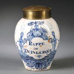 Dutch Delft Tobacco Jar