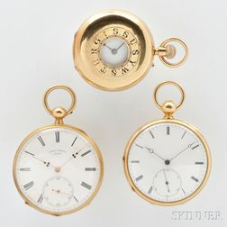 Three 18kt Gold Watches