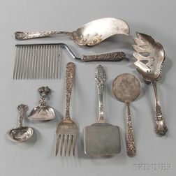 Eight Pieces of American Sterling Silver Flatware