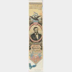 Woven Silk Abraham Lincoln Memorial Ribbon