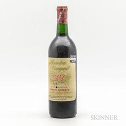 Beaulieu Vineyards Cabernet Sauvignon Georges de Latour Private Reserve vintage unknown, 1 bottle