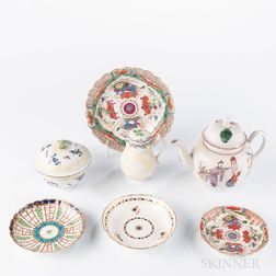 Group of Worcester Porcelain Teaware