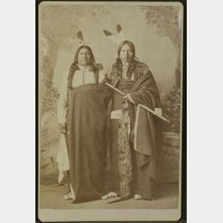 Cabinet Card Photograph of Spotted Tail and Iron Wing, Lakota Chiefs