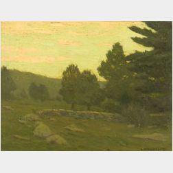 Charles Warren Eaton (American, 1857-1937)  Spring Landscape, Sunset