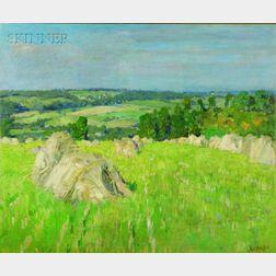 George Oberteuffer (American, 1878-1940)    Haystacks