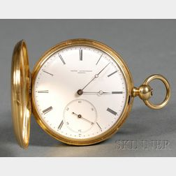 18kt Gold Hunting Case Pocket Watch by James Courvoisier