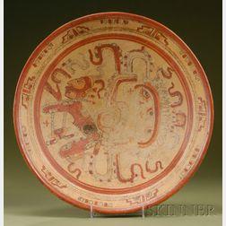 Pre-Columbian Polychrome Pottery Plate