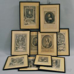 Ten English Historical Engravings