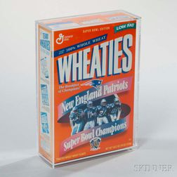 """New England Patriots Super Bowl XXXI Champions"" Wheaties Box"
