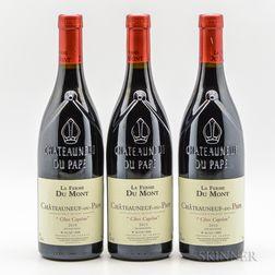 La Ferme du Mont Chateauneuf du Pape Cotes Capelan 2010, 3 bottles
