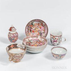 Nine Export Porcelain Table Items