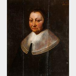 Dutch School, 17th Century      Portrait of an Older Woman with a Flat Linen Collar
