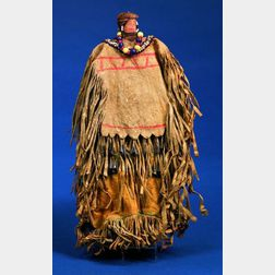 Southwest Cloth, Hide, and Wood Female Doll