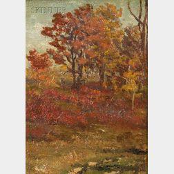 John Joseph Enneking (American, 1841-1916)      Autumn Oak