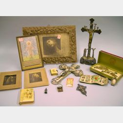 Group of Christian Religious Items