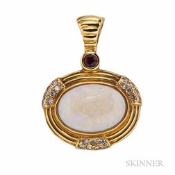 18kt Gold and Opal Pendant, H. Stern