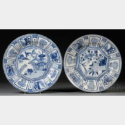 Pair of Blue and White Plates