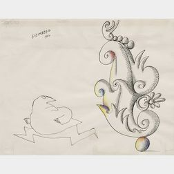 Saul Steinberg (American, 1914-1999)      Fear of Beauty