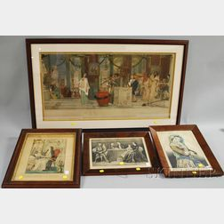 Four Assorted 19th Century Framed Prints
