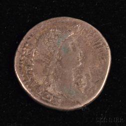 Ancient Roman Empire Silver Tetradrachm Coin