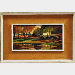 Frank Coburn (American, 1866-1931)      Autumn Landscape