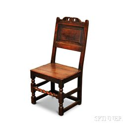 Jacobean Carved Oak Side Chair