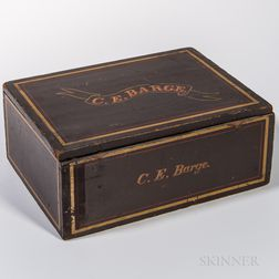 """C.E. Barge"" Paint-decorated Box"
