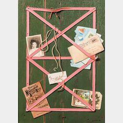 Gayle Blair Tate (American, b. 1944)      Trompe l'Oeil with Postage