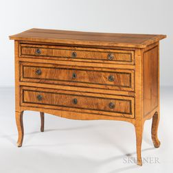 Swedish Inlaid Tulipwood Chest of Drawers