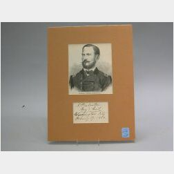 Group of Four Signatures of Union Civil War Generals