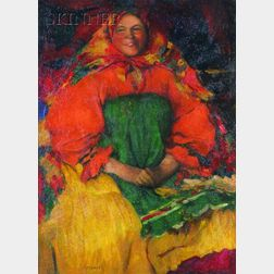Abram Efimovich Arkhipov (Russian, 1862-1930)    Girl from Ryazan