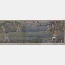 Three Framed Cricket Prints