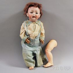 Large Lewis Wolf & Co. Bisque Head Toddler Boy Doll